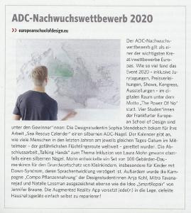 ADC Gewinnerinnen von der European School of Design