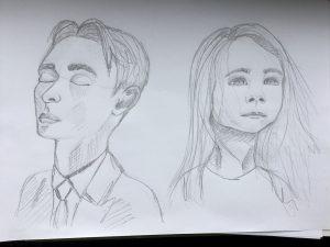 Porträts zeichnen im Designstudium