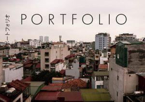 Designstudentin entwirft eigenes Portfolio
