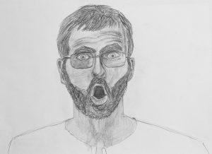 Designstudent übt Zeichnen