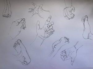 Hände und Füße Zeichnen