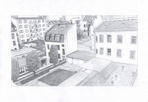 Zeichnung eines Designstudenten