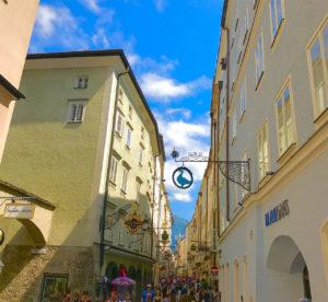 Foto der Straße von Salzburg