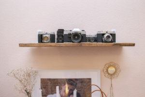 Designstudent fotografiert analog