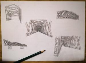 Perspektivisches Zeichnen im Designstudium