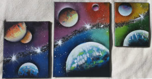 Etwas kreatives: Spray Paint Galaxy