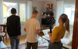 Designstudentin filmt Kurzfilm