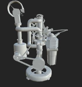 Selbstgebaute Lampe als 3D Modell